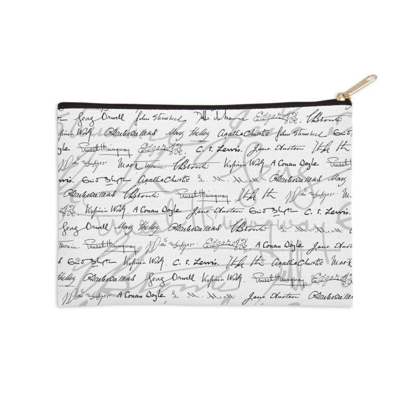 Literary Giants Pattern II Accessories Zip Pouch by Grandio Design Artist Shop