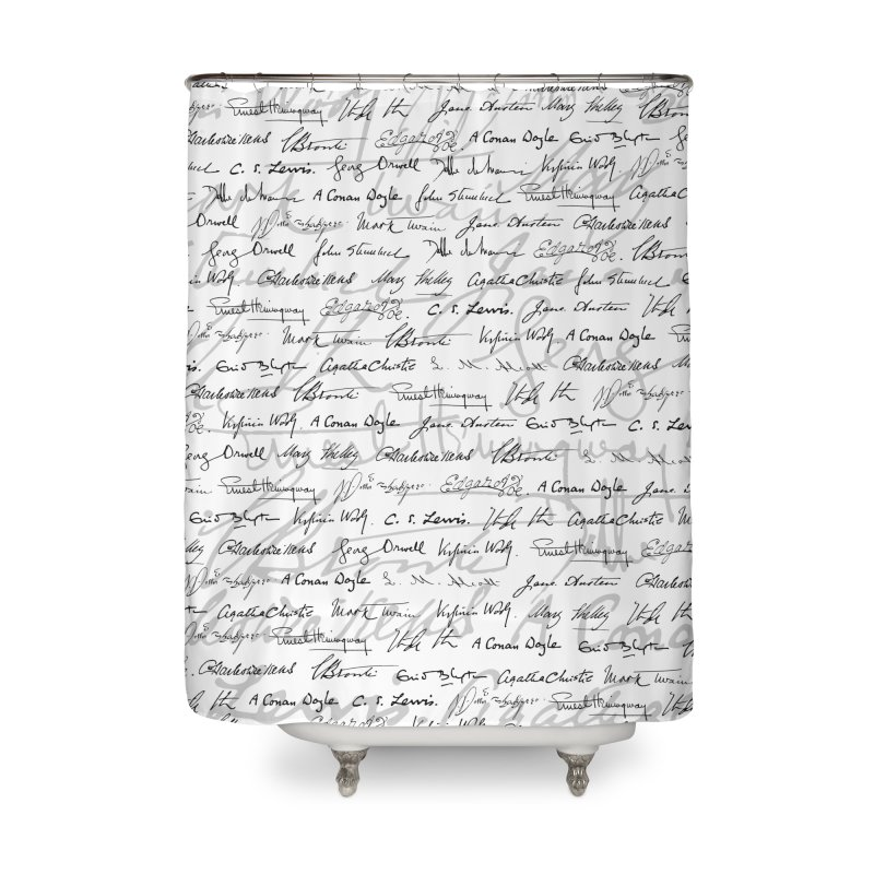 Literary Giants Pattern II Home Shower Curtain by Grandio Design Artist Shop