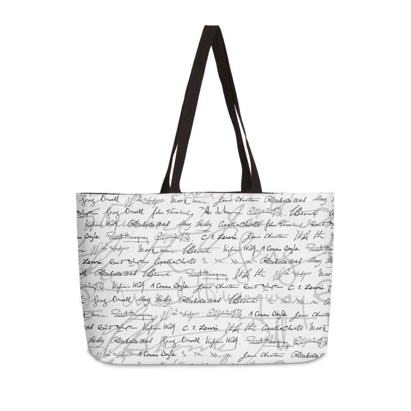 Literary Giants Pattern II Accessories Weekender Bag Bag by Grandio Design Artist Shop