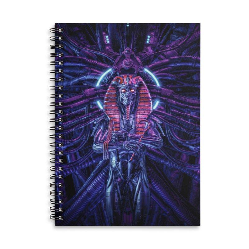 Neo Pharaoh Accessories Lined Spiral Notebook by Grandio Design Artist Shop