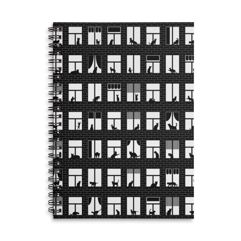 Feline Towers Accessories Lined Spiral Notebook by Grandio Design Artist Shop
