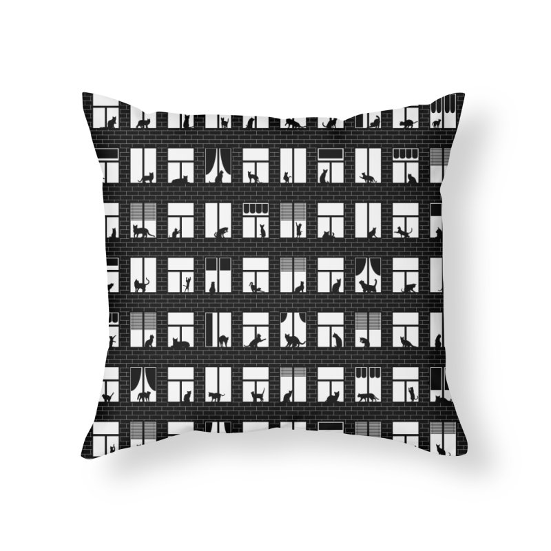 Feline Towers Home Throw Pillow by Grandio Design Artist Shop