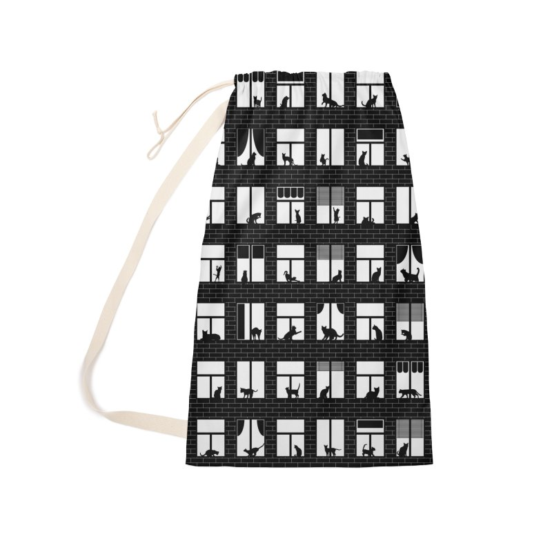 Feline Towers Accessories Laundry Bag Bag by Grandio Design Artist Shop