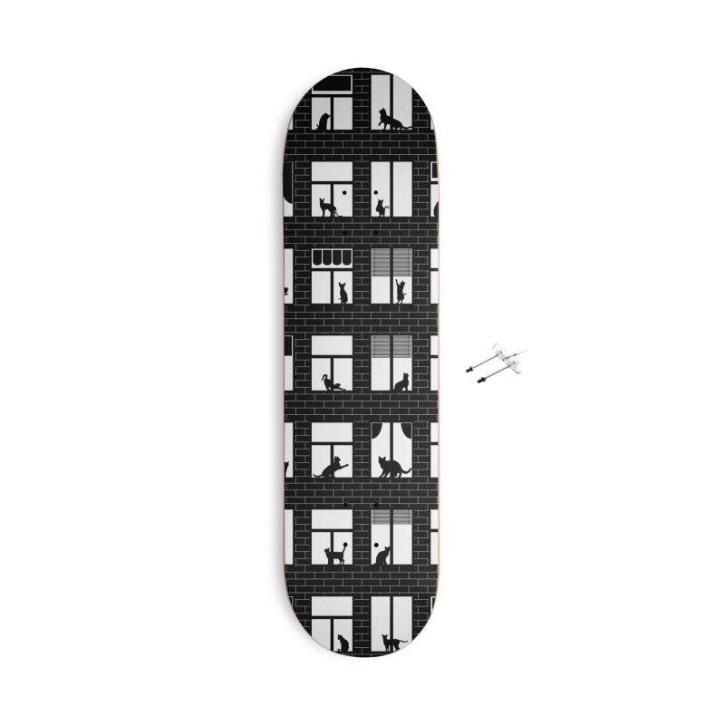 Feline Towers Accessories With Hanging Hardware Skateboard by Grandio Design Artist Shop