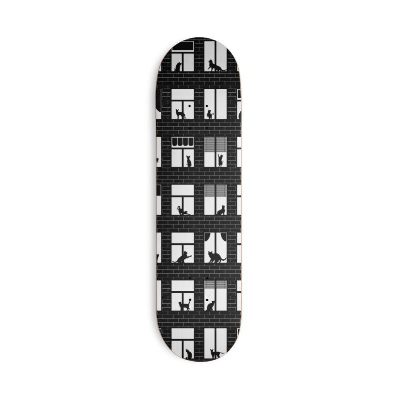 Feline Towers Accessories Deck Only Skateboard by Grandio Design Artist Shop
