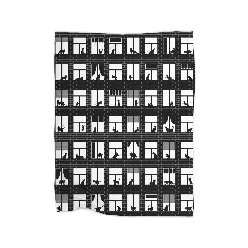 Feline Towers Home Fleece Blanket Blanket by Grandio Design Artist Shop