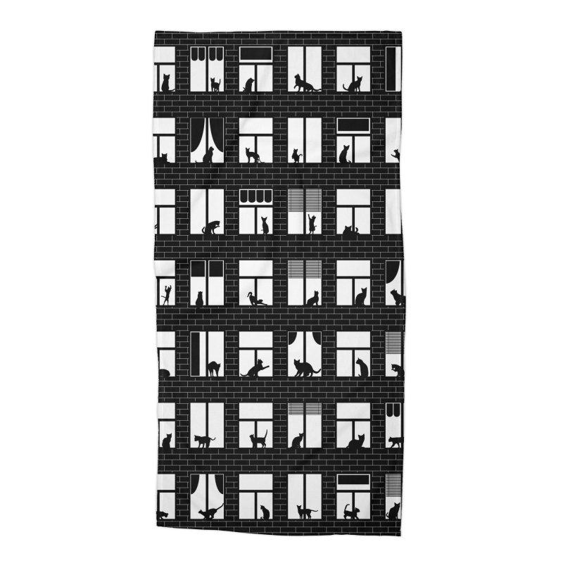Feline Towers Accessories Beach Towel by Grandio Design Artist Shop