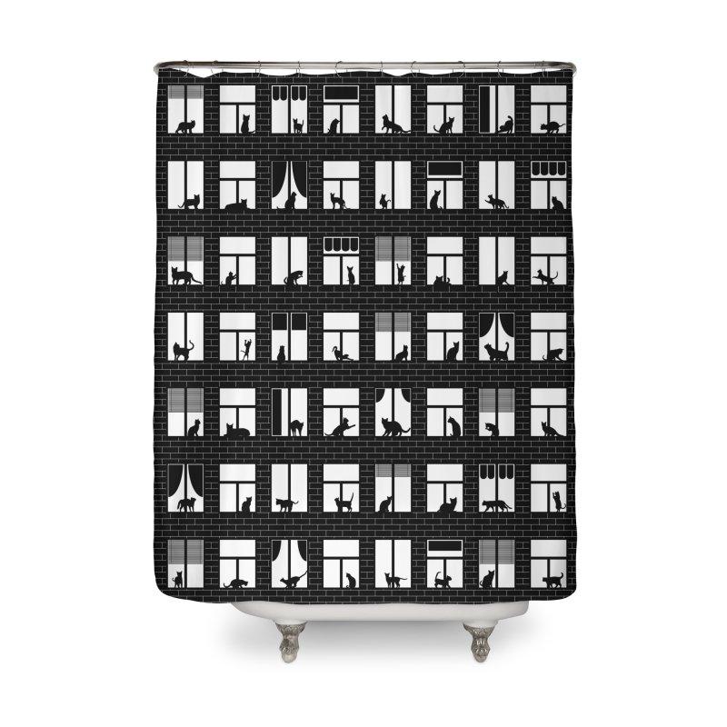 Feline Towers Home Shower Curtain by Grandio Design Artist Shop