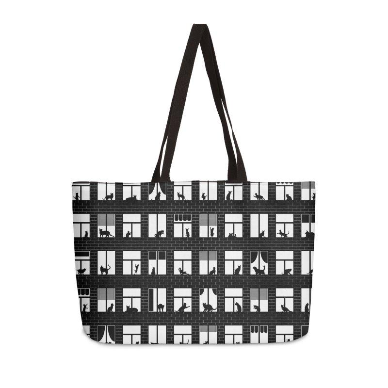 Feline Towers Accessories Weekender Bag Bag by Grandio Design Artist Shop