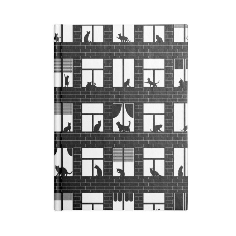 Feline Towers Accessories Lined Journal Notebook by Grandio Design Artist Shop