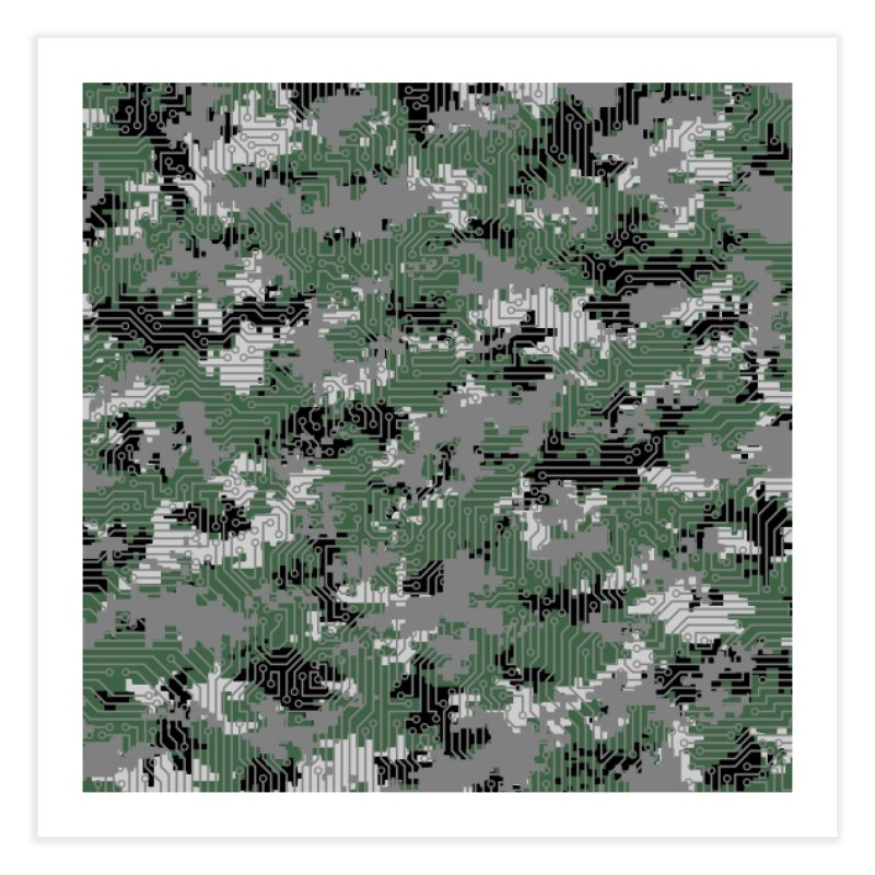 Computer Circuit Camo URBAN GAMER Home Fine Art Print by Grandio Design Artist Shop