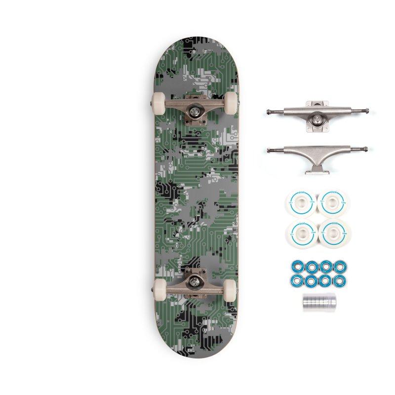 Computer Circuit Camo URBAN GAMER Accessories Complete - Basic Skateboard by Grandio Design Artist Shop