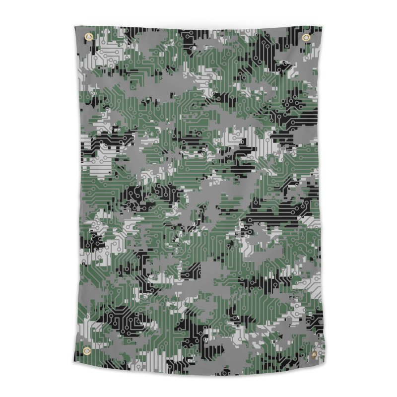 Computer Circuit Camo URBAN GAMER Home Tapestry by Grandio Design Artist Shop