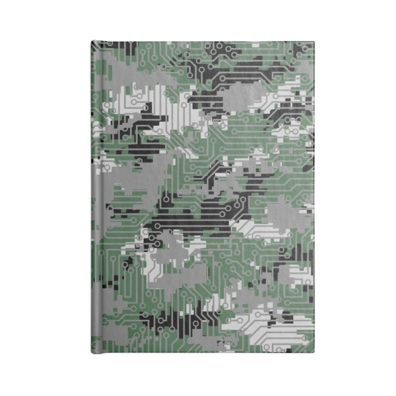 Computer Circuit Camo URBAN GAMER Accessories Blank Journal Notebook by Grandio Design Artist Shop