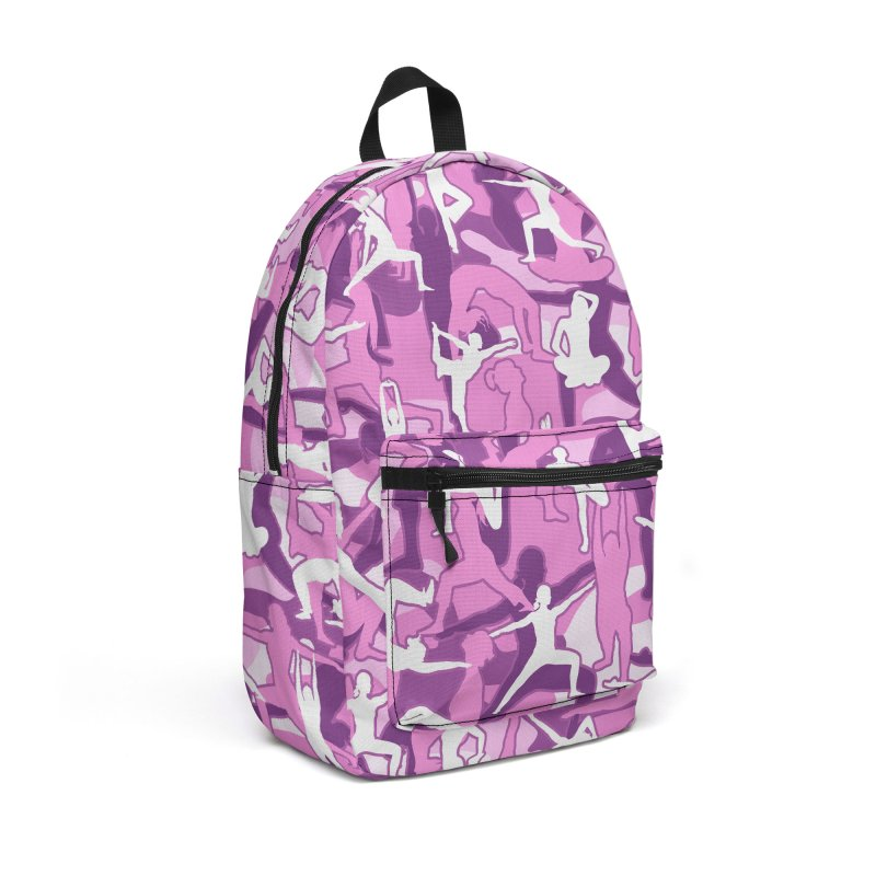 Yoga Harmony Camo PINK Accessories Backpack Bag by Grandio Design Artist Shop
