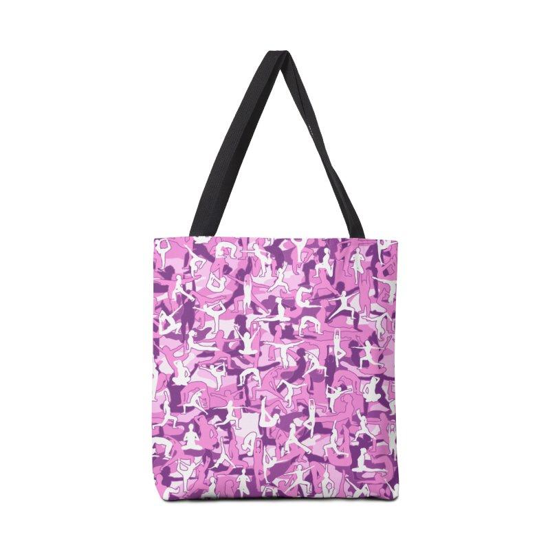 Yoga Harmony Camo PINK Accessories Tote Bag Bag by Grandio Design Artist Shop