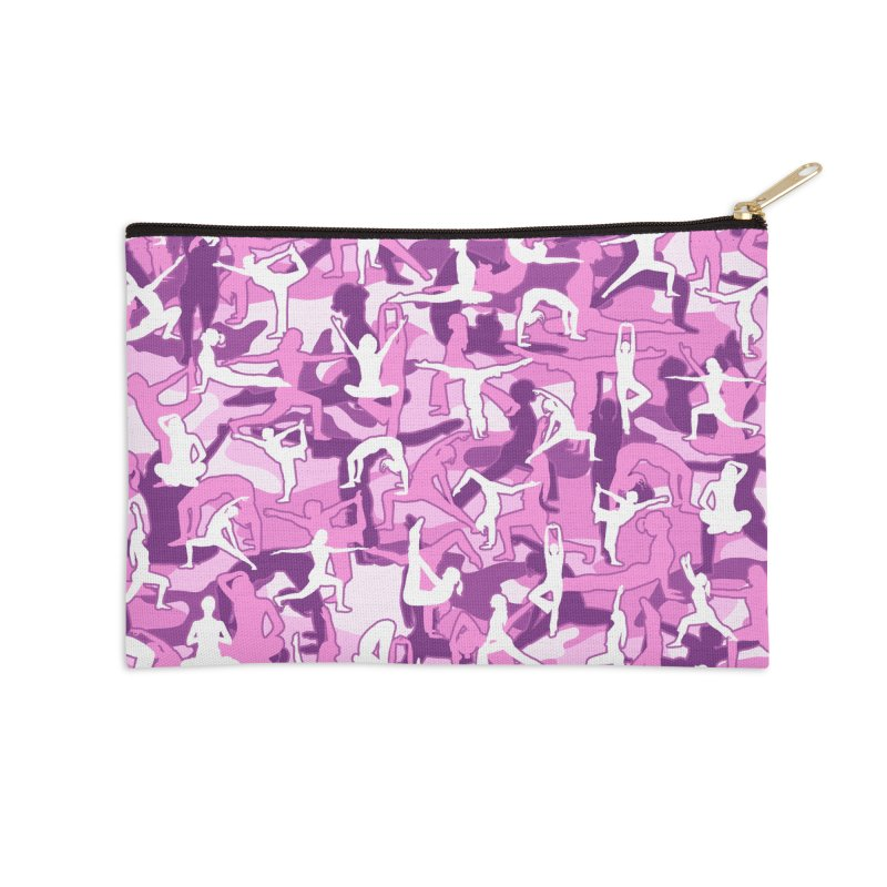Yoga Harmony Camo PINK Accessories Zip Pouch by Grandio Design Artist Shop