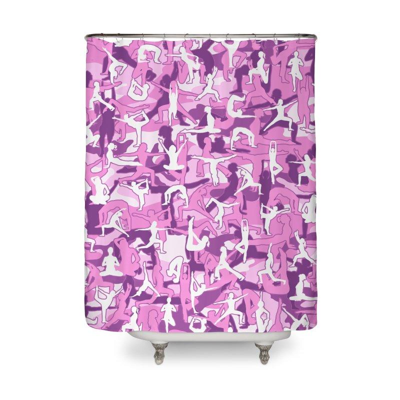 Yoga Harmony Camo PINK Home Shower Curtain by Grandio Design Artist Shop