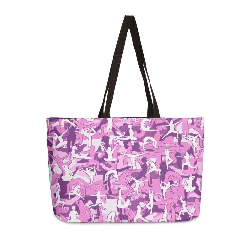 Yoga Harmony Camo PINK Accessories Weekender Bag Bag by Grandio Design Artist Shop