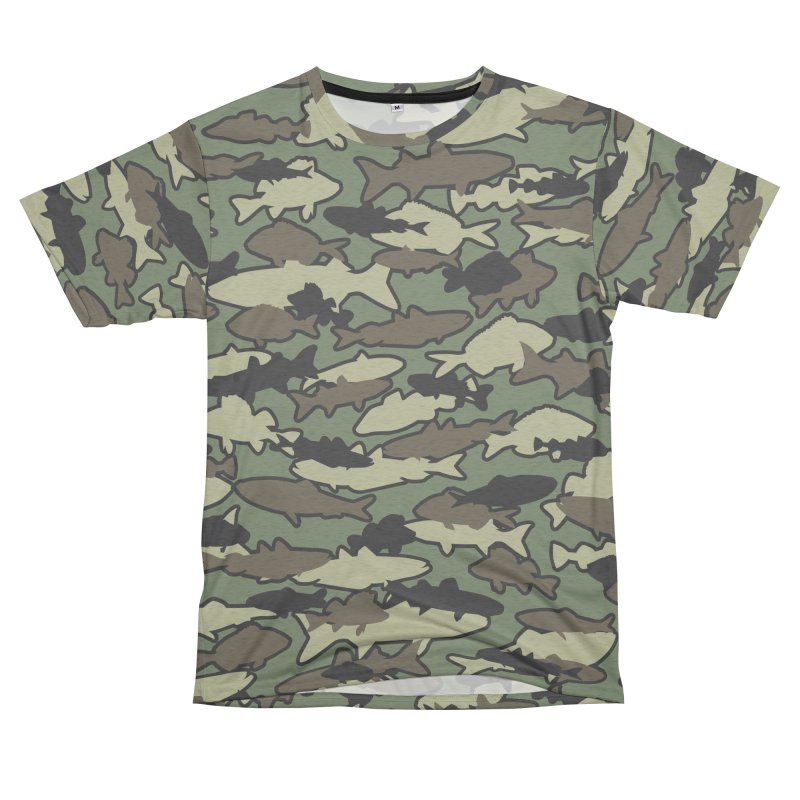 Fish Camo JUNGLE Women's Unisex French Terry T-Shirt Cut & Sew by Grandio Design Artist Shop