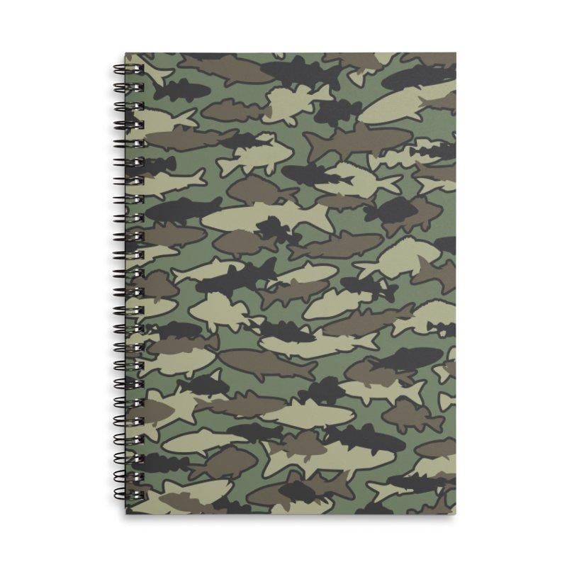 Fish Camo JUNGLE Accessories Lined Spiral Notebook by Grandio Design Artist Shop