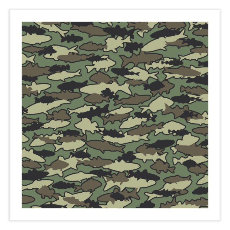 Fish Camo JUNGLE Home Fine Art Print by Grandio Design Artist Shop