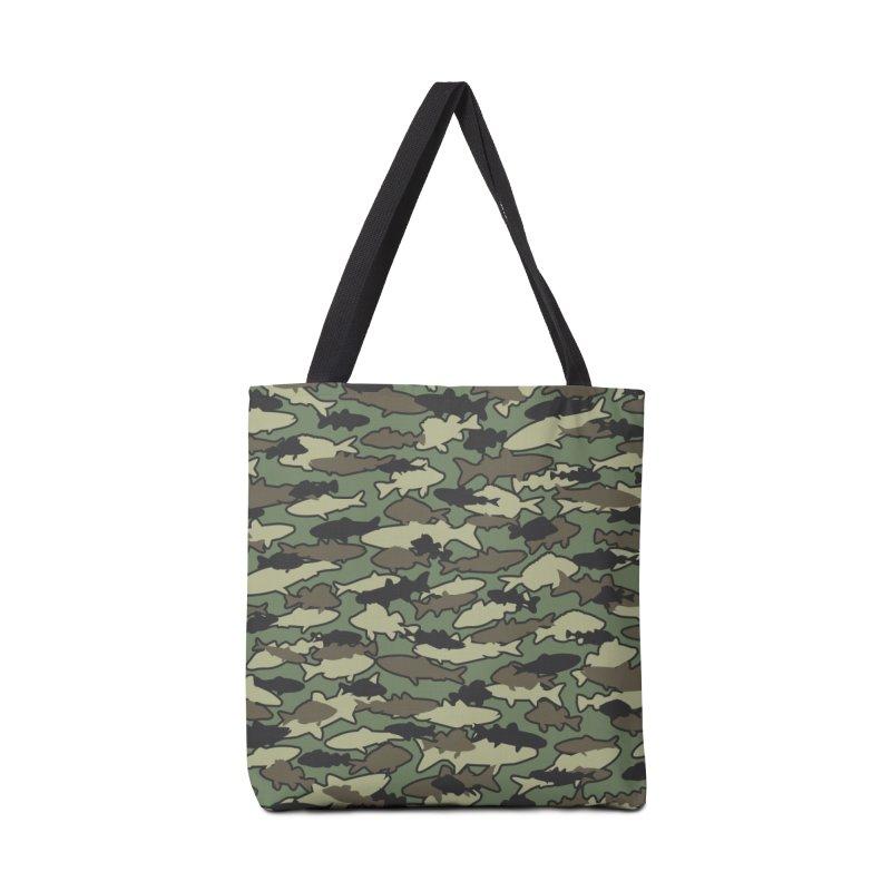 Fish Camo JUNGLE Accessories Tote Bag Bag by Grandio Design Artist Shop