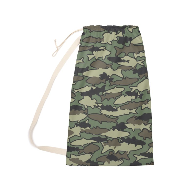Fish Camo JUNGLE Accessories Laundry Bag Bag by Grandio Design Artist Shop