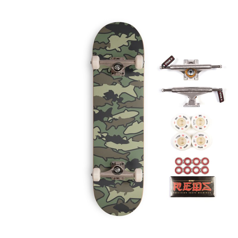 Fish Camo JUNGLE Accessories Complete - Pro Skateboard by Grandio Design Artist Shop