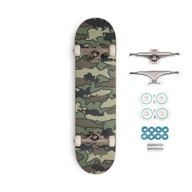 Fish Camo JUNGLE Accessories Complete - Basic Skateboard by Grandio Design Artist Shop