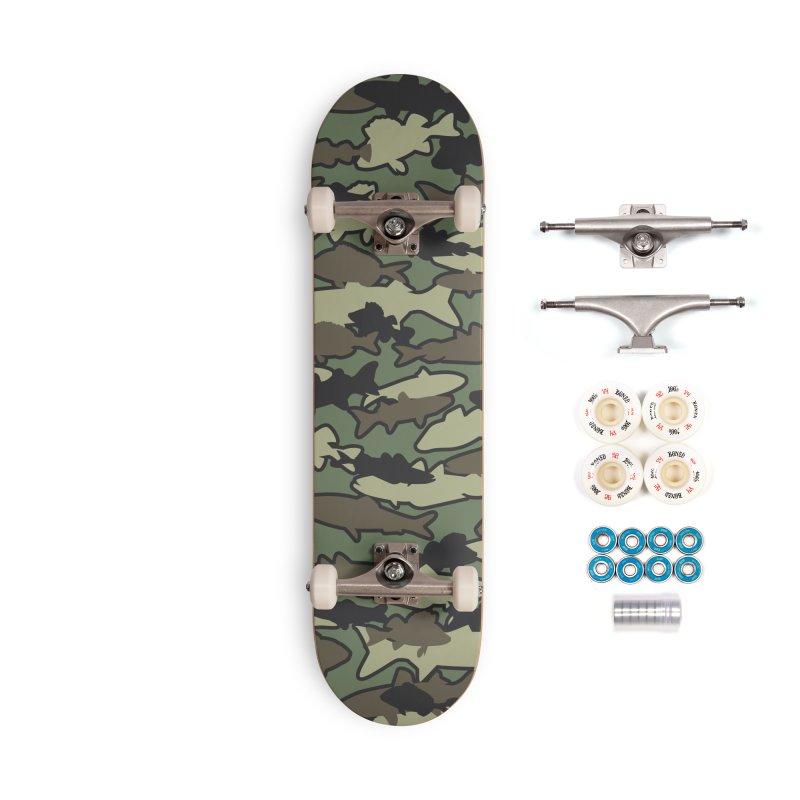Fish Camo JUNGLE Accessories Complete - Premium Skateboard by Grandio Design Artist Shop