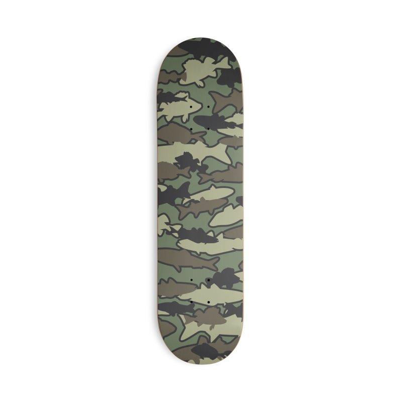 Fish Camo JUNGLE Accessories Deck Only Skateboard by Grandio Design Artist Shop