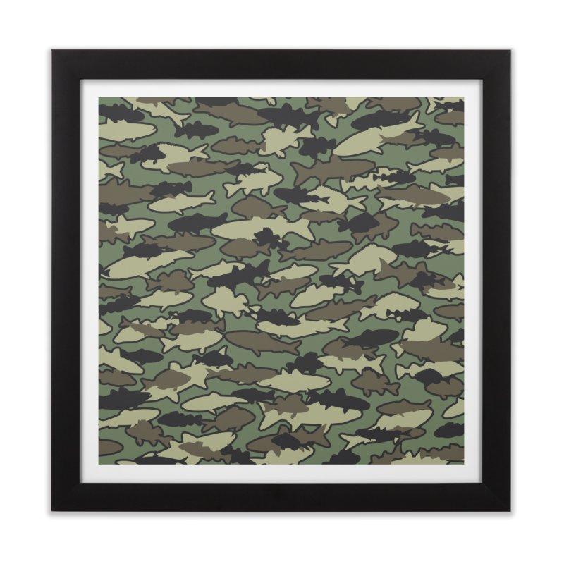 Fish Camo JUNGLE Home Framed Fine Art Print by Grandio Design Artist Shop