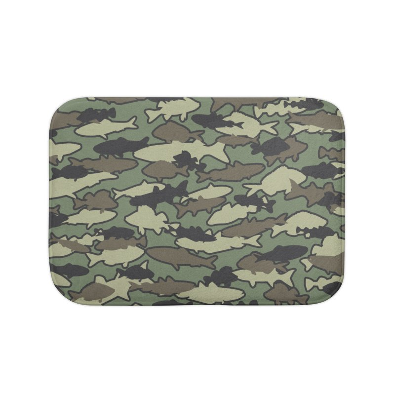 Fish Camo JUNGLE Home Bath Mat by Grandio Design Artist Shop