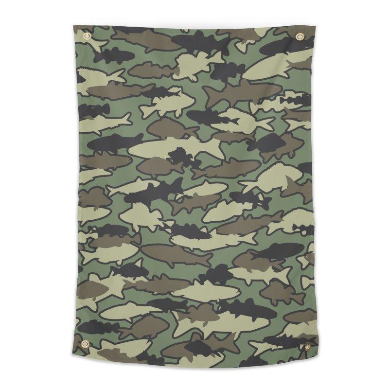 Fish Camo JUNGLE Home Tapestry by Grandio Design Artist Shop