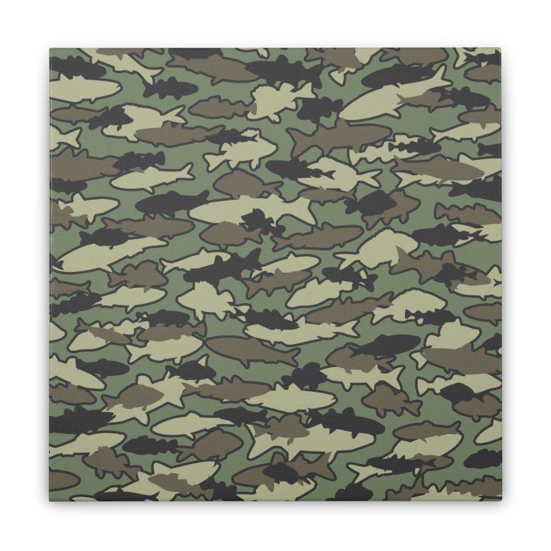 Fish Camo JUNGLE Home Stretched Canvas by Grandio Design Artist Shop