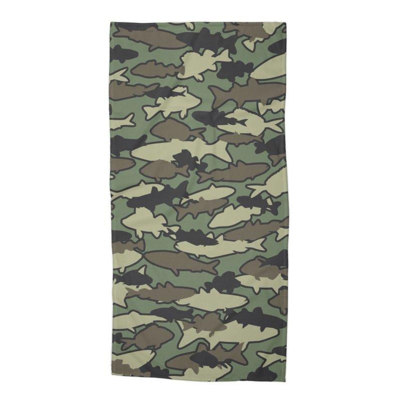Fish Camo JUNGLE Accessories Beach Towel by Grandio Design Artist Shop