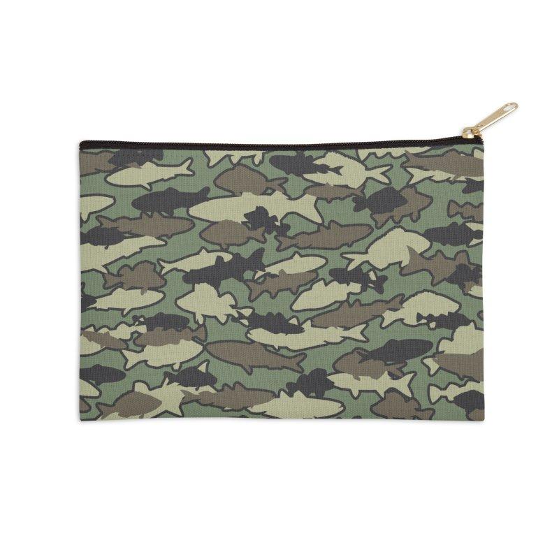 Fish Camo JUNGLE Accessories Zip Pouch by Grandio Design Artist Shop