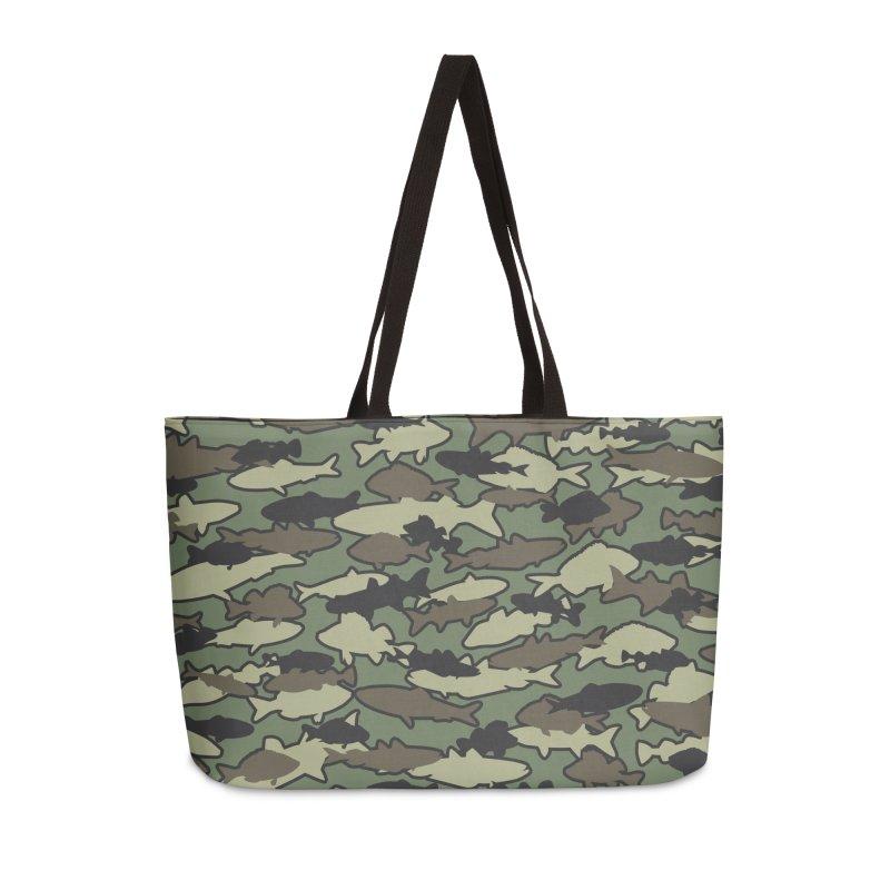 Fish Camo JUNGLE Accessories Weekender Bag Bag by Grandio Design Artist Shop