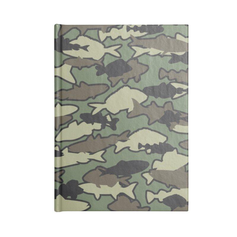 Fish Camo JUNGLE Accessories Lined Journal Notebook by Grandio Design Artist Shop