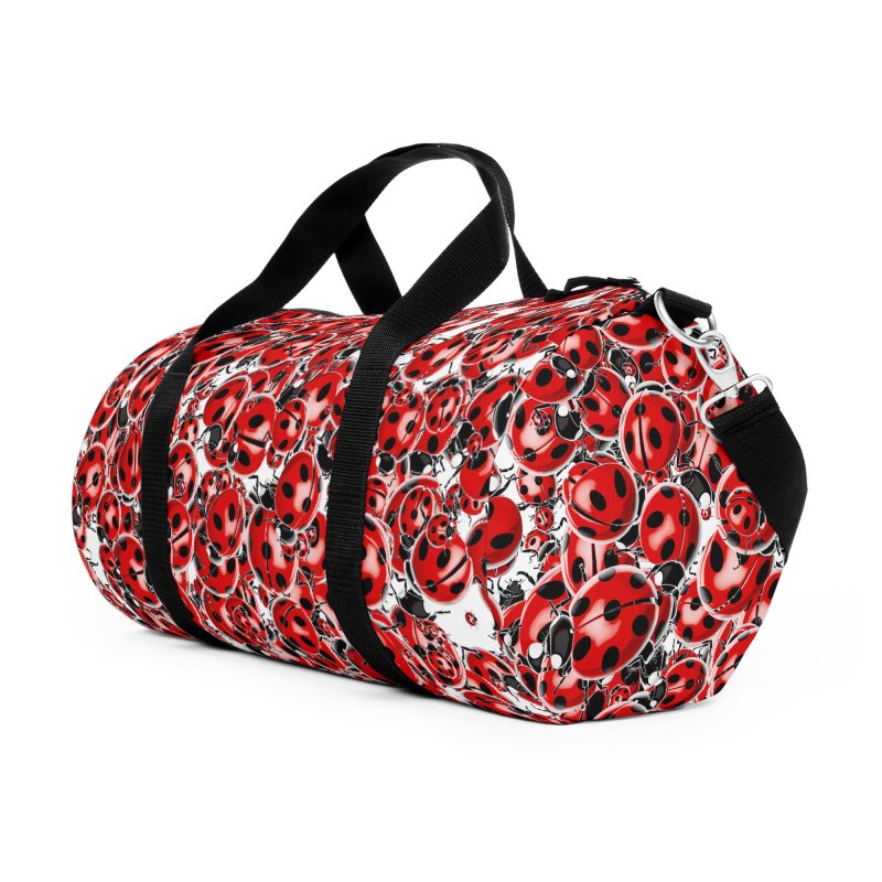 Ladybug Love Accessories Duffel Bag Bag by Grandio Design Artist Shop