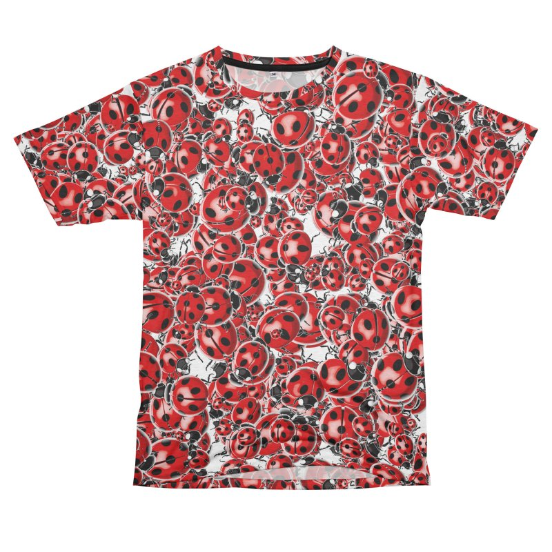 Ladybug Love Women's Unisex French Terry T-Shirt Cut & Sew by Grandio Design Artist Shop