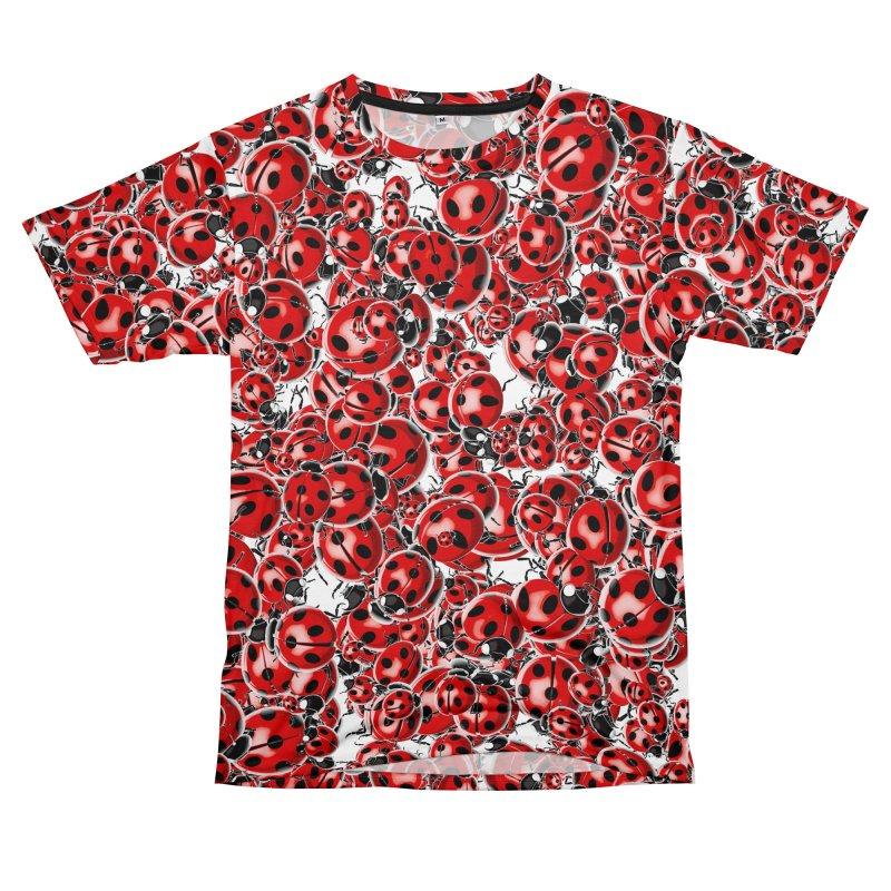 Ladybug Love Women's Unisex T-Shirt Cut & Sew by Grandio Design Artist Shop
