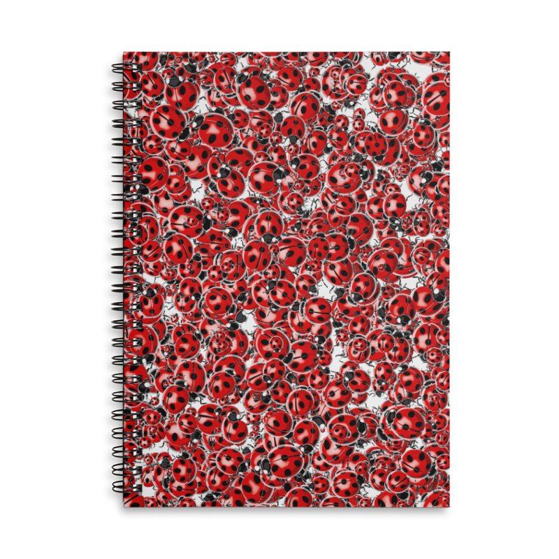 Ladybug Love Accessories Lined Spiral Notebook by Grandio Design Artist Shop