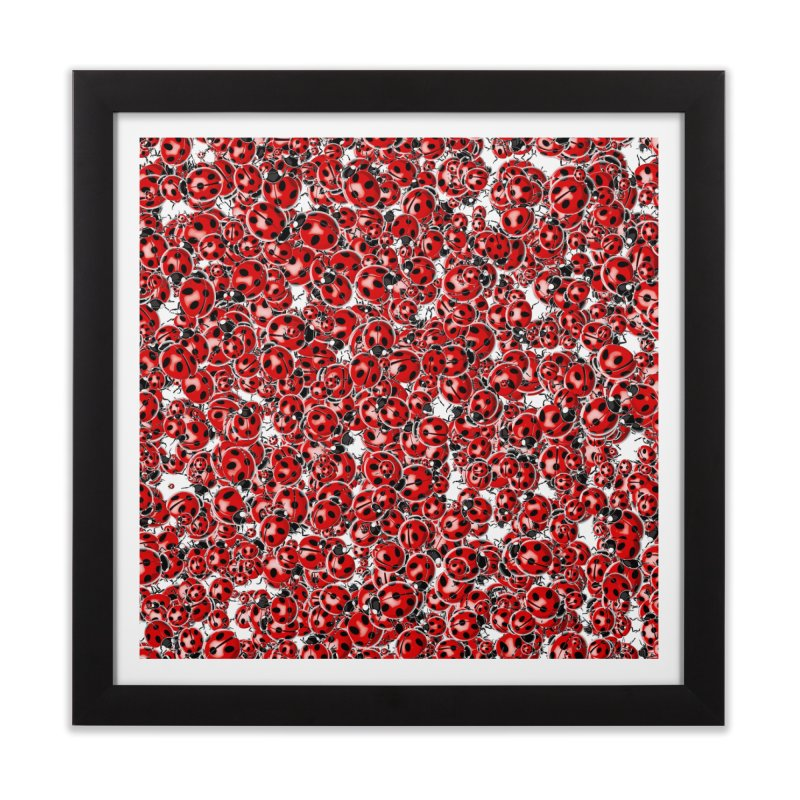 Ladybug Love Home Framed Fine Art Print by Grandio Design Artist Shop