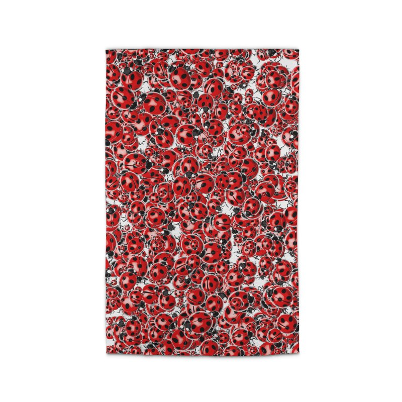 Ladybug Love Home Rug by Grandio Design Artist Shop