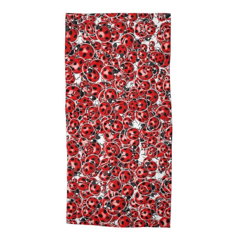 Ladybug Love Accessories Beach Towel by Grandio Design Artist Shop