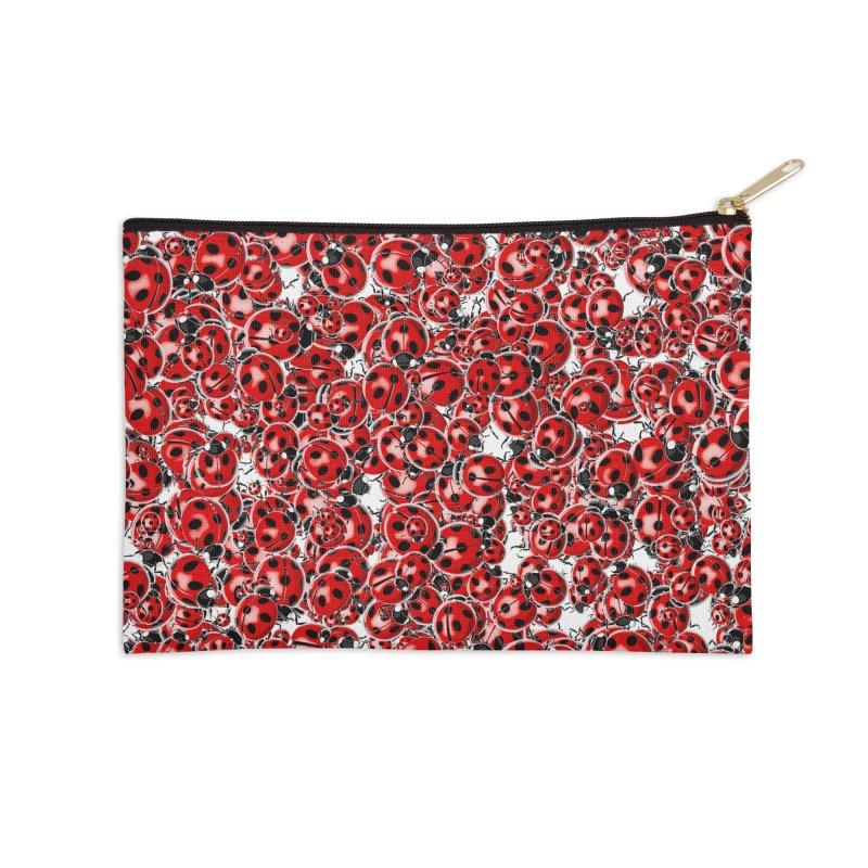 Ladybug Love Accessories Zip Pouch by Grandio Design Artist Shop