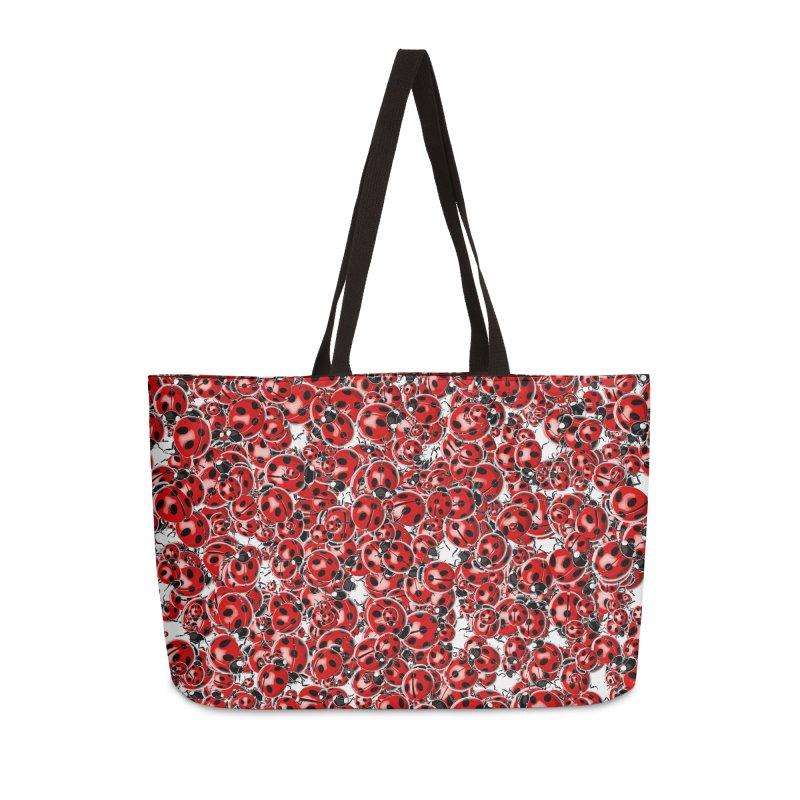 Ladybug Love Accessories Weekender Bag Bag by Grandio Design Artist Shop