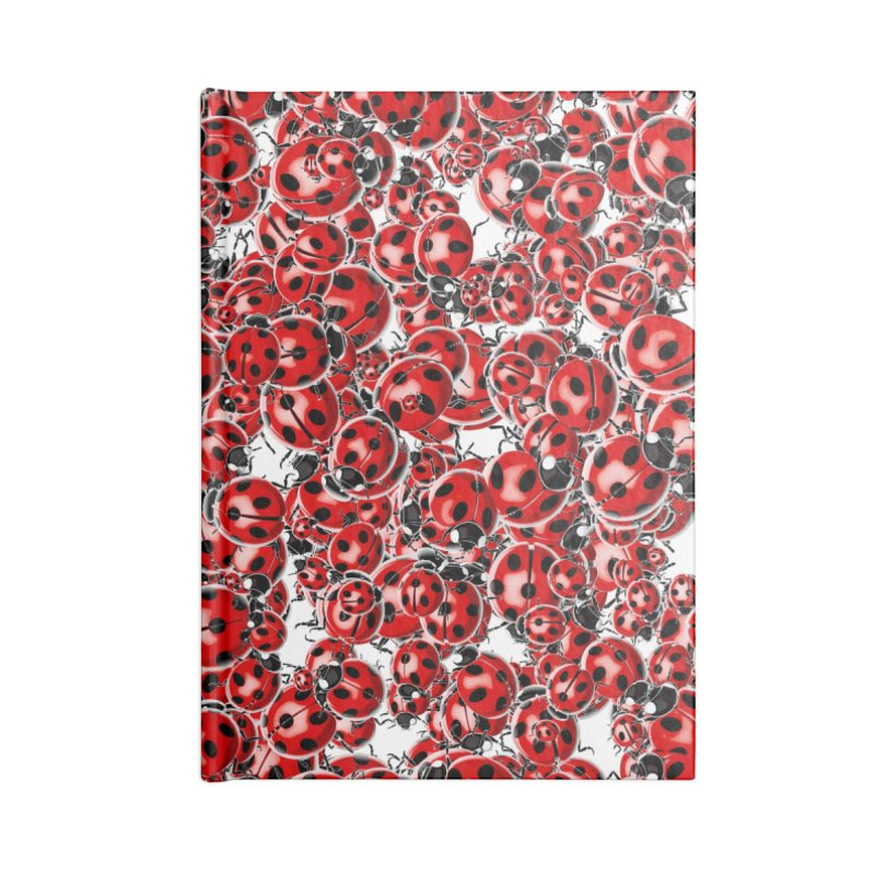 Ladybug Love Accessories Blank Journal Notebook by Grandio Design Artist Shop